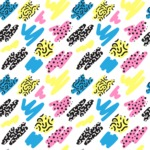 Seamless Pattern Designs Mega Bundle - Memphis Pattern 13
