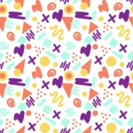 Seamless Pattern Designs Mega Bundle - Memphis Pattern 15