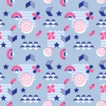Seamless Pattern Designs Mega Bundle - Memphis Pattern 22