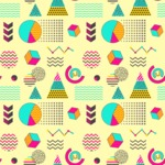 Seamless Pattern Designs Mega Bundle - Memphis Pattern 26
