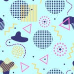 Seamless Pattern Designs Mega Bundle - Memphis Pattern 30