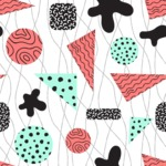 Seamless Pattern Designs Mega Bundle - Memphis Pattern 31