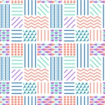 Seamless Pattern Designs Mega Bundle - Memphis Pattern 35