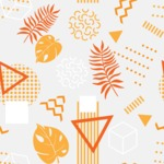 Seamless Pattern Designs Mega Bundle - Memphis Pattern 44