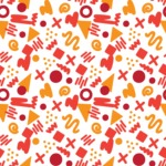 Seamless Pattern Designs Mega Bundle - Memphis Pattern 87