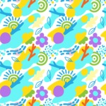 Seamless Pattern Designs Mega Bundle - Memphis Pattern 95