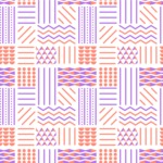 Seamless Pattern Designs Mega Bundle - Memphis Pattern 107