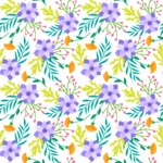 Seamless Pattern Designs Mega Bundle - Flower Pattern 1