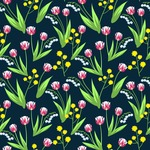 Seamless Pattern Designs Mega Bundle - Flower Pattern 4