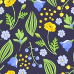 Seamless Pattern Designs Mega Bundle - Flower Pattern 8