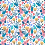 Seamless Pattern Designs Mega Bundle - Flower Pattern 9