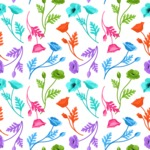 Seamless Pattern Designs Mega Bundle - Flower Pattern 14