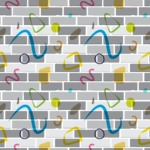 Seamless Pattern Designs Mega Bundle - Brick Pattern 13