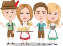German people at beer fest