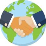 Earth with handshake