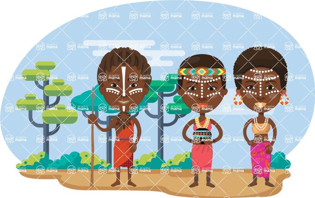 Nationalities Vectors - Mega Bundle - African tribe