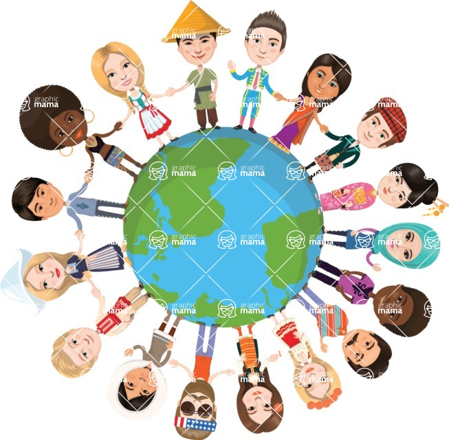 Nationalities Vectors - Mega Bundle - Friendly People around the Globe