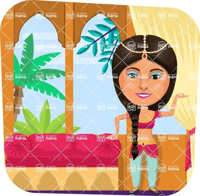 Nationalities Vectors - Mega Bundle - Indian girl dancer