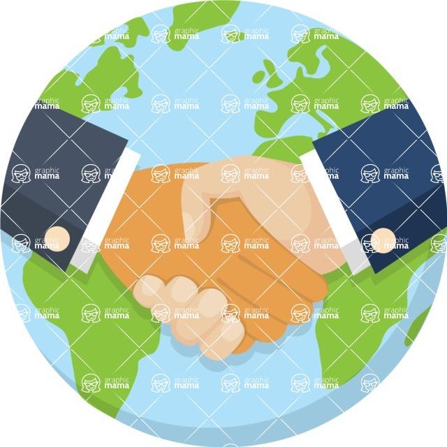 Nationalities Vectors - Mega Bundle - Earth with handshake