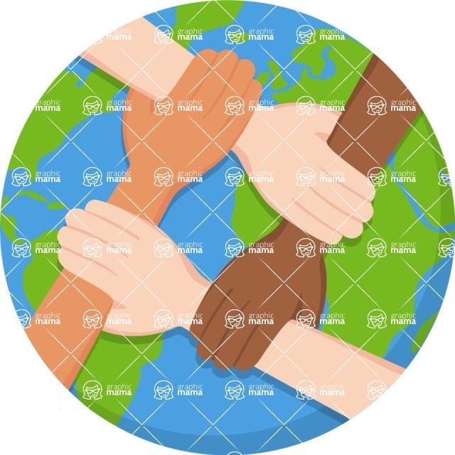 Nationalities Vectors - Mega Bundle - Cooperation