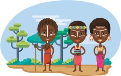 Nationalities Vectors - Mega Bundle - African tribe