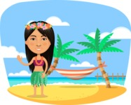 Nationalities Vectors - Mega Bundle - Greeting Tahiti girl