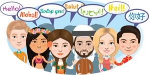 Nationalities Vectors - Mega Bundle - Hello in different languages