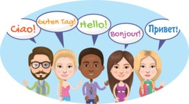 Nationalities Vectors - Mega Bundle - Hello in different languages 2
