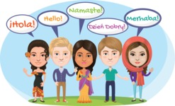 Nationalities Vectors - Mega Bundle - Greeting in different languages
