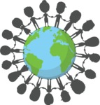 Nationalities Vectors - Mega Bundle - Earth people silhouettes
