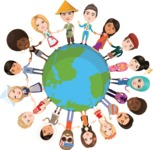 Nationalities Vectors - Mega Bundle - Friendly People around the Globe