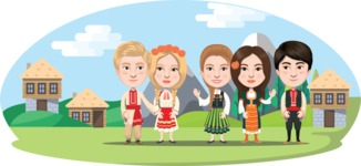 Nationalities Vectors - Mega Bundle - Bulgarians in traditional costume