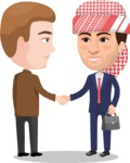 Nationalities Vectors - Mega Bundle - International business handshake