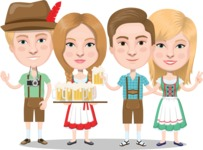 Nationalities Vectors - Mega Bundle - German people at beer fest