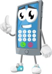 Smart Phone Cartoon Vector Character - With Opened Phone App