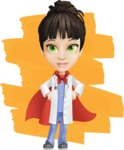 Female Medic Cartoon Vector Character AKA Dr. Fran First-Aid - Being Super Doctor Illustration with Background