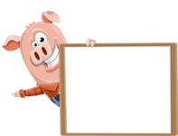 Farm Pig Cartoon Vector Character AKA Pigasso the Creative Pig - Presentation 5