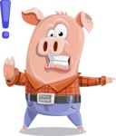 Farm Pig Cartoon Vector Character AKA Pigasso the Creative Pig - DirectAttention 2