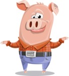 Farm Pig Cartoon Vector Character AKA Pigasso the Creative Pig - Sorry
