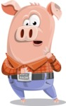 Farm Pig Cartoon Vector Character AKA Pigasso the Creative Pig - Shocked