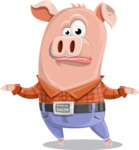 Farm Pig Cartoon Vector Character AKA Pigasso the Creative Pig - Lost