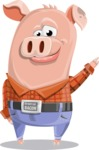 Farm Pig Cartoon Vector Character AKA Pigasso the Creative Pig - GoodBye