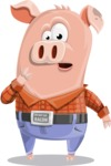 Farm Pig Cartoon Vector Character AKA Pigasso the Creative Pig - Oops