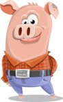 Farm Pig Cartoon Vector Character AKA Pigasso the Creative Pig - Patient