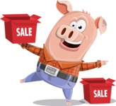 Farm Pig Cartoon Vector Character AKA Pigasso the Creative Pig - Sale