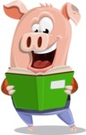 Farm Pig Cartoon Vector Character AKA Pigasso the Creative Pig - Book 1