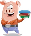 Farm Pig Cartoon Vector Character AKA Pigasso the Creative Pig - Book 2
