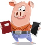 Farm Pig Cartoon Vector Character AKA Pigasso the Creative Pig - Book and iPad