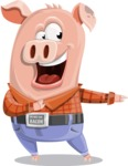 Farm Pig Cartoon Vector Character AKA Pigasso the Creative Pig - Showcase