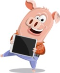 Farm Pig Cartoon Vector Character AKA Pigasso the Creative Pig - iPad 2
